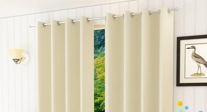 "Lillian Door Curtain - Set Of 2 (Cream, 112 x 274 cm  (44"" x 108"") Curtain Size) by Urban Ladder - Design 1 Half View - 321985"