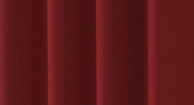 "Lillian Door Curtain - Set Of 2 (Maroon, 112 x 213 cm  (44"" x 84"") Curtain Size) by Urban Ladder - Design 1 Close View - 322014"