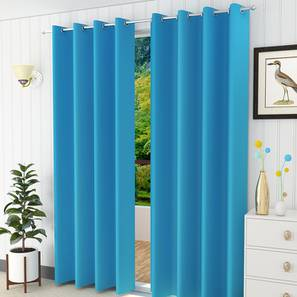 Lillian door curtain set of 2 turquoise blue 7 lp