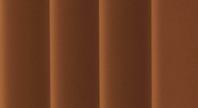 "Lillian Door Curtain - Set Of 2 (Rust, 112 x 274 cm  (44"" x 108"") Curtain Size) by Urban Ladder - Design 1 Close View - 322047"
