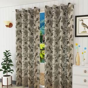 Lillian window curtain set of 2 brown 5 lp
