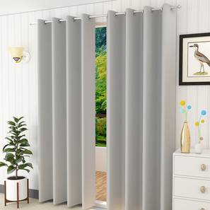 Lillian window curtain set of 2 silver 5 lp