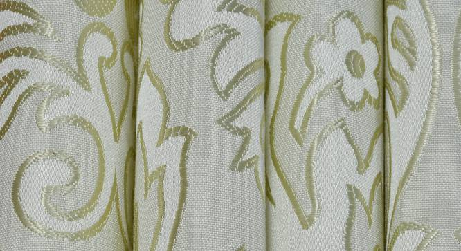 """Magnolia Door Curtain - Set Of 2 (Green, 112 x 213 cm  (44"""" x 84"""") Curtain Size) by Urban Ladder - Design 1 Close View - 322149"""