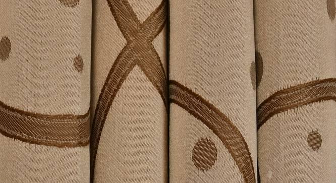"Maren Door Curtain - Set Of 2. (Gold, 112 x 213 cm  (44"" x 84"") Curtain Size) by Urban Ladder - Design 1 Close View - 322174"