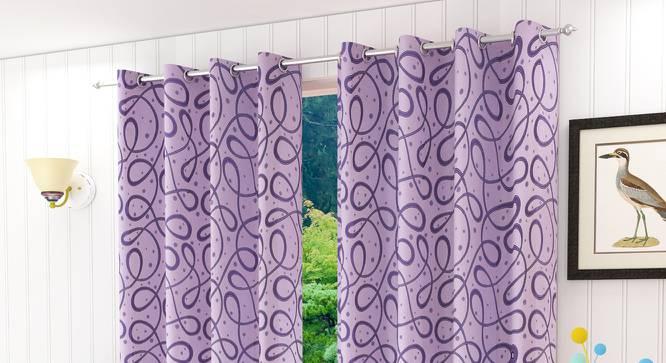 """Maren Door Curtain - Set Of 2. (Pink, 112 x 274 cm  (44"""" x 108"""") Curtain Size) by Urban Ladder - Design 1 Half View - 322176"""