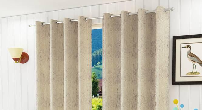 "Olivia Window Curtain - Set Of 2 (Wine, 112 x 152 cm  (44"" x 60"") Curtain Size) by Urban Ladder - Design 1 Half View - 322249"