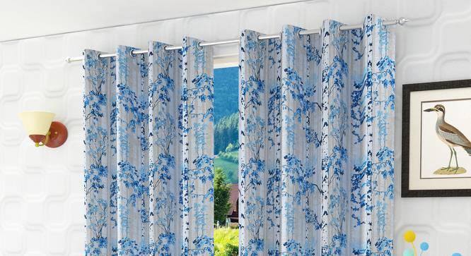 "Pindera Door Curtain - Set Of 2 (112 x 213 cm  (44"" x 84"") Curtain Size) by Urban Ladder - Design 1 Half View - 322255"