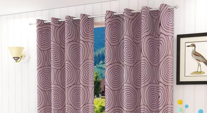 """Sage Door Curtain - Set Of 2 (Purple, 112 x 213 cm  (44"""" x 84"""") Curtain Size) by Urban Ladder - Design 1 Half View - 322285"""