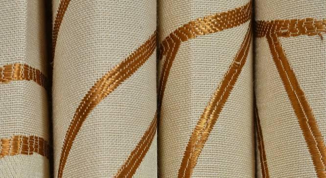 "Sage Window Curtain - Set Of 2 (Gold, 112 x 152 cm  (44"" x 60"") Curtain Size) by Urban Ladder - Design 1 Close View - 322300"
