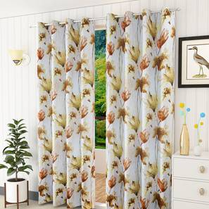 "Simia Door Curtain - Set Of 2 (112 x 274 cm  (44"" x 108"") Curtain Size) by Urban Ladder - Design 1 Half View - 322301"