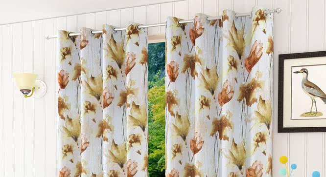 "Simia Window Curtain - Set Of 2 (112 x 152 cm  (44"" x 60"") Curtain Size) by Urban Ladder - Design 1 Half View - 322310"