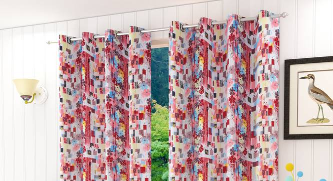 "Serinda Door Curtain - Set Of 2 (112 x 152 cm  (44"" x 60"") Curtain Size) by Urban Ladder - Design 1 Half View - 322319"