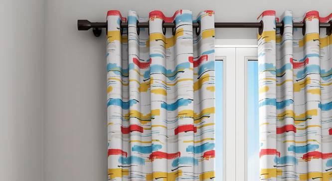 "Leon Curtain (White, 122 x 213 cm(48"" x 84"") Curtain Size) by Urban Ladder - Design 1 Details - 322326"