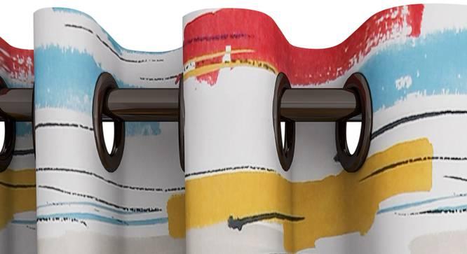 "Leon Curtain (White, 122 x 213 cm(48"" x 84"") Curtain Size) by Urban Ladder - Design 1 Top View - 322327"