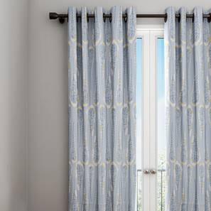 "Diesel Curtain (Blue, 122 x 213 cm(48"" x 84"") Curtain Size) by Urban Ladder - Design 1 Details - 322331"