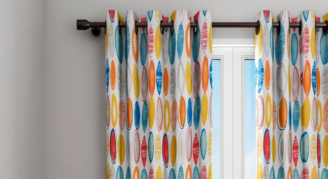 "Harlow Curtain (White, 122 x 213 cm(48"" x 84"") Curtain Size) by Urban Ladder - Design 1 Details - 322336"