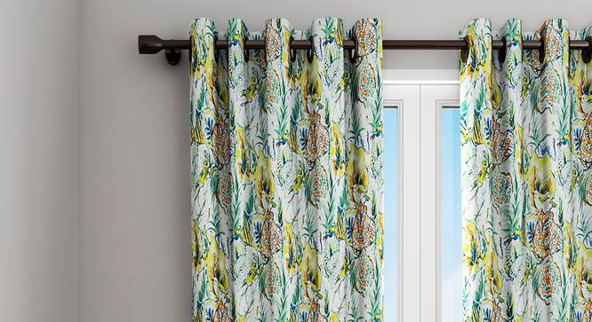 "Annie Curtain (Green, 122 x 213 cm(48"" x 84"") Curtain Size) by Urban Ladder - Design 1 Details - 322346"