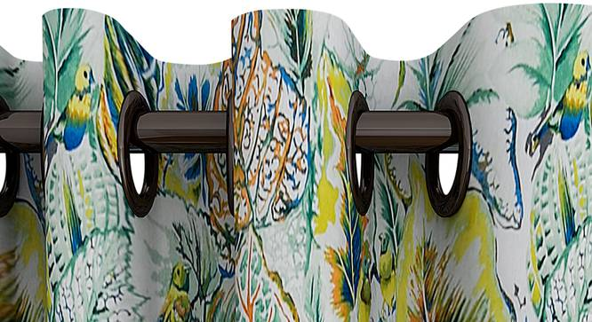 "Annie Curtain (Green, 122 x 213 cm(48"" x 84"") Curtain Size) by Urban Ladder - Design 1 Top View - 322347"