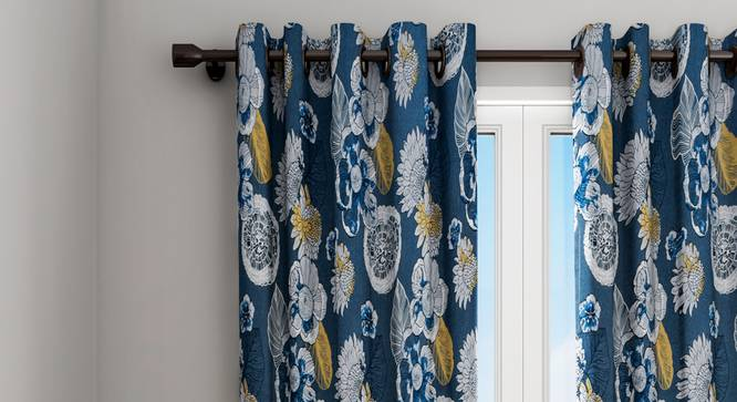 "Josephine Curtain (Blue, 122 x 213 cm(48"" x 84"") Curtain Size) by Urban Ladder - Design 1 Details - 322361"