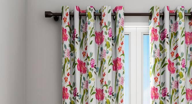 "Alice Curtain (White, 122 x 213 cm(48"" x 84"") Curtain Size) by Urban Ladder - Design 1 Details - 322366"