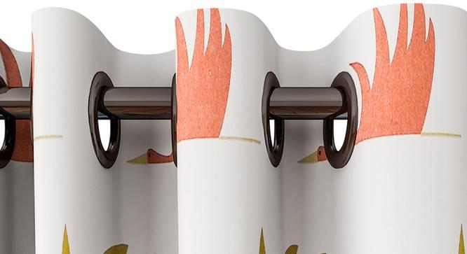 "Frida Curtain (White, 122 x 213 cm(48"" x 84"") Curtain Size) by Urban Ladder - Design 1 Top View - 322376"