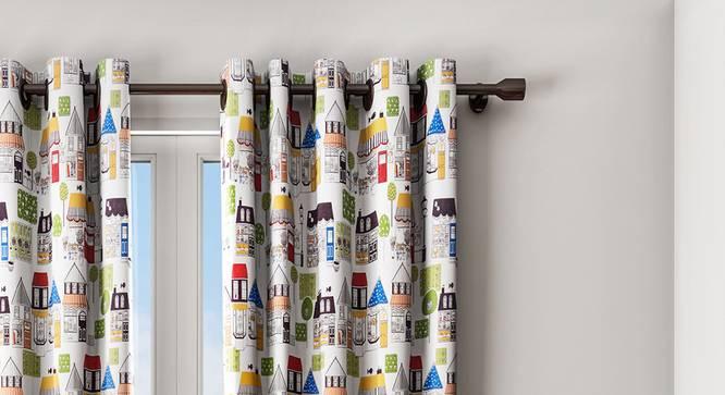 "Kyla Curtain (White, 122 x 213 cm(48"" x 84"") Curtain Size) by Urban Ladder - Design 1 Details - 322379"