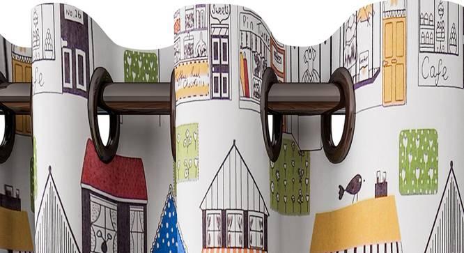 "Kyla Curtain (White, 122 x 213 cm(48"" x 84"") Curtain Size) by Urban Ladder - Design 1 Top View - 322380"