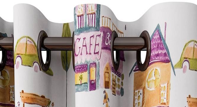 "Juniper Curtain (White, 122 x 213 cm(48"" x 84"") Curtain Size) by Urban Ladder - Design 1 Top View - 322384"