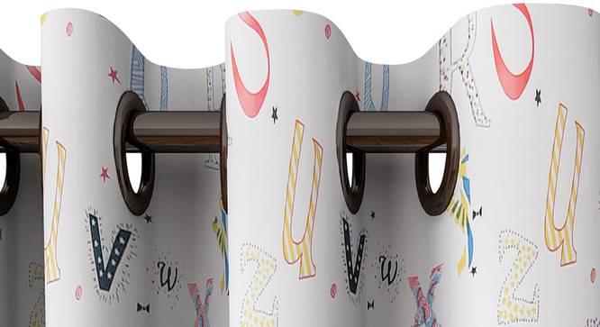 "Lucille Curtain (White, 122 x 213 cm(48"" x 84"") Curtain Size) by Urban Ladder - Design 1 Top View - 322400"