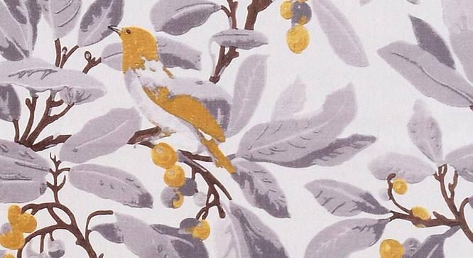 "Sparrow Curtain (White, 122 x 274 cm(48"" x 108"") Curtain Size) by Urban Ladder - Design 1 Top View - 322405"