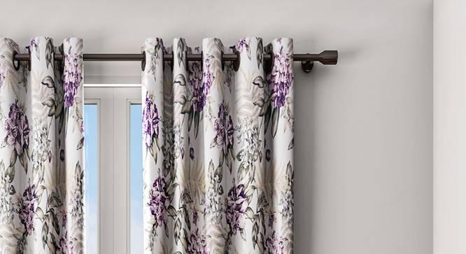 """Indigo Curtain (White, 122 x 274 cm(48"""" x 108"""") Curtain Size) by Urban Ladder - Design 1 Details - 322408"""