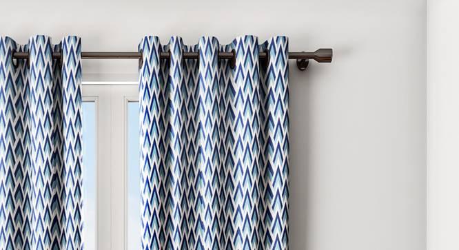 "Jane Curtain (Blue, 122 x 274 cm(48"" x 108"") Curtain Size) by Urban Ladder - Design 1 Details - 322412"