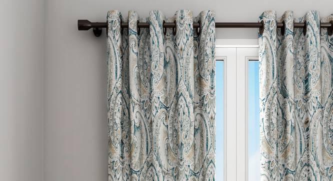 "Jean Curtain (Green, 122 x 274 cm(48"" x 108"") Curtain Size) by Urban Ladder - Design 1 Details - 322416"