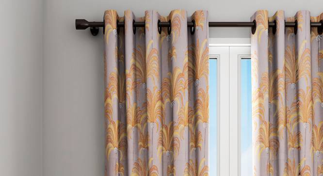 """Mabel Curtain (Brown, 122 x 274 cm(48"""" x 108"""") Curtain Size) by Urban Ladder - Design 1 Details - 322421"""
