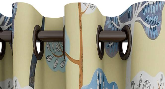 """Winona Curtain (Yellow, 122 x 274 cm(48"""" x 108"""") Curtain Size) by Urban Ladder - Design 1 Top View - 322432"""