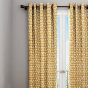 Wynonna curtain yellow geometric 9 ft lp