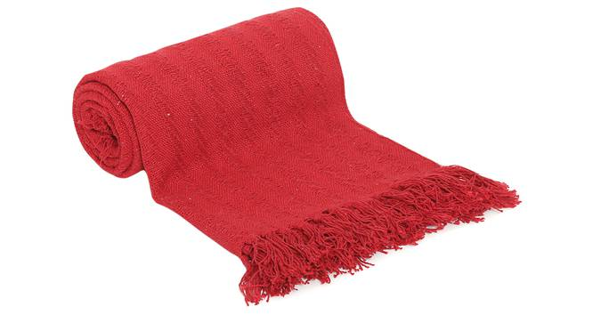 "William Throw (Red, 61 x 61 cm  (24"" X 24"") Cushion Size) by Urban Ladder - Front View Design 1 - 322488"