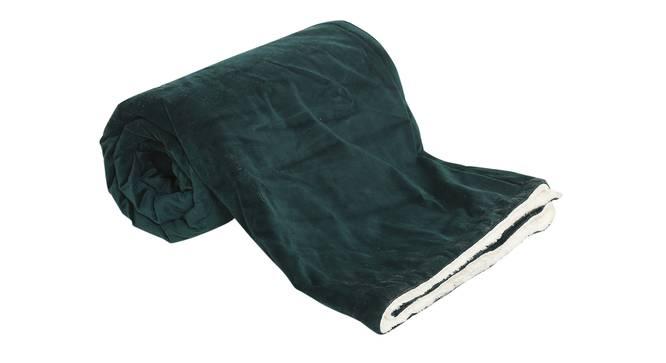 "Gwen Throw (Green, 61 x 61 cm  (24"" X 24"") Cushion Size) by Urban Ladder - Front View Design 1 - 322496"