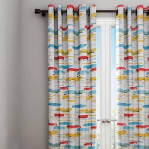 """Wren Curtain (White, 122 x 274 cm(48"""" x 108"""") Curtain Size) by Urban Ladder - Design 1 Details - 322511"""