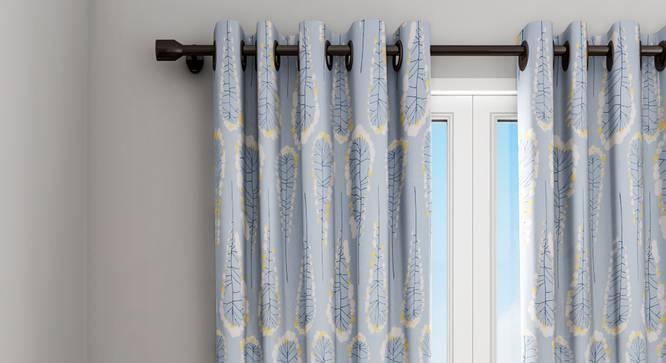 "Joao Curtain (Blue, 122 x 274 cm(48"" x 108"") Curtain Size) by Urban Ladder - Design 1 Details - 322518"