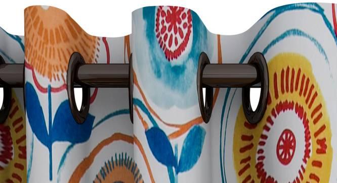 "Pearl Curtain (White, 122 x 274 cm(48"" x 108"") Curtain Size) by Urban Ladder - Design 1 Top View - 322531"