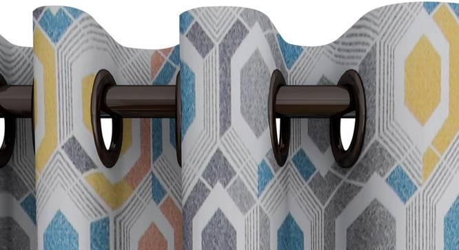 "Stella Curtain (122 x 274 cm(48"" x 108"") Curtain Size) by Urban Ladder - Design 1 Top View - 322549"