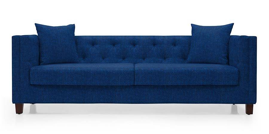 Windsor Sofa (Cobalt Blue) (Cobalt, Fabric Sofa Material, Regular Sofa Size, Regular Sofa Type) by Urban Ladder - - 32256