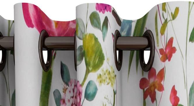"Sophie Curtain (White, 122 x 274 cm(48"" x 108"") Curtain Size) by Urban Ladder - Design 1 Top View - 322564"