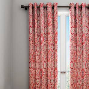 Veronica curtain red abstract 7 ft lp