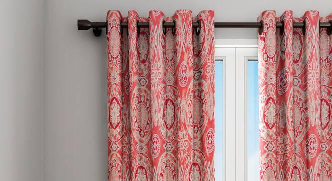 "Veronica Curtain (Red, 122 x 213 cm(48"" x 84"") Curtain Size) by Urban Ladder - Design 1 Details - 322789"