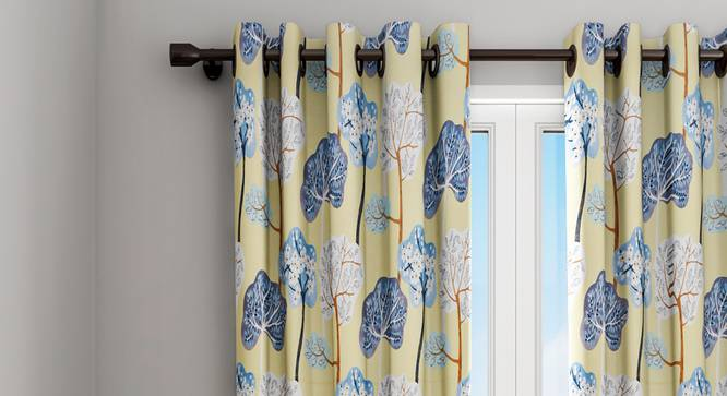 "Vivian Curtain (Yellow, 122 x 213 cm(48"" x 84"") Curtain Size) by Urban Ladder - Design 1 Details - 322794"