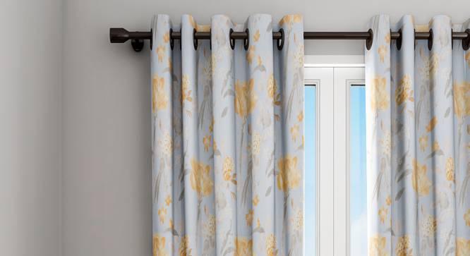 "Winifred Curtain (Blue, 122 x 213 cm(48"" x 84"") Curtain Size) by Urban Ladder - Design 1 Details - 322804"