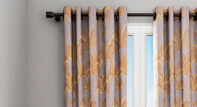 "Ursula Curtain (Brown, 122 x 213 cm(48"" x 84"") Curtain Size) by Urban Ladder - Design 1 Details - 322831"