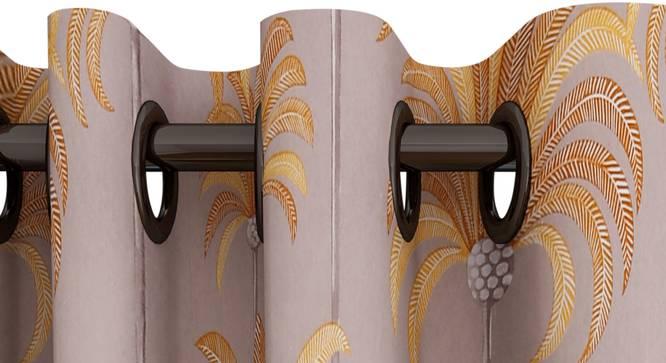 "Ursula Curtain (Brown, 122 x 213 cm(48"" x 84"") Curtain Size) by Urban Ladder - Design 1 Top View - 322832"
